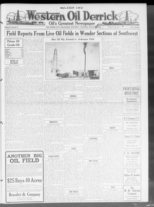 Primary view of object titled 'Western Oil Derrick (Oklahoma City, Okla.), Vol. 4, No. 9, Ed. 2 Saturday, August 28, 1920'.