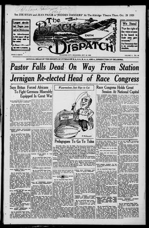 Primary view of The Black Dispatch (Oklahoma City, Okla.), Vol. 5, No. 46, Ed. 1 Friday, October 22, 1920