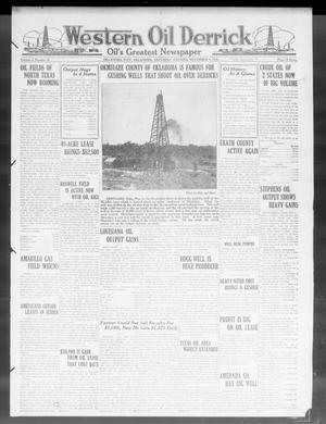 Primary view of object titled 'Western Oil Derrick (Oklahoma City, Okla.), Vol. 4, No. 19, Ed. 1 Saturday, November 6, 1920'.