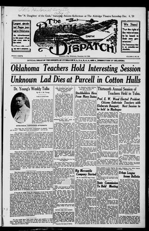 Primary view of object titled 'The Black Dispatch (Oklahoma City, Okla.), Vol. 5, No. 52, Ed. 1 Friday, December 3, 1920'.