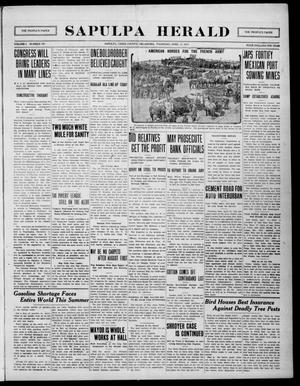 Primary view of Sapulpa Herald (Sapulpa, Okla.), Vol. 1, No. 191, Ed. 1 Thursday, April 15, 1915