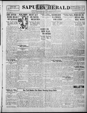 Primary view of Sapulpa Herald (Sapulpa, Okla.), Vol. 10, No. 112, Ed. 1 Tuesday, January 13, 1925