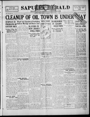 Primary view of Sapulpa Herald (Sapulpa, Okla.), Vol. 13, No. 38, Ed. 1 Friday, October 15, 1926