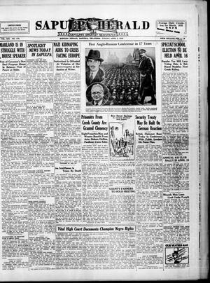 Primary view of Sapulpa Herald (Sapulpa, Okla.), Vol. 21, No. 179, Ed. 1 Tuesday, April 2, 1935