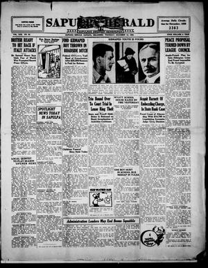 Primary view of Sapulpa Herald (Sapulpa, Okla.), Vol. 22, No. 92, Ed. 1 Thursday, December 19, 1935