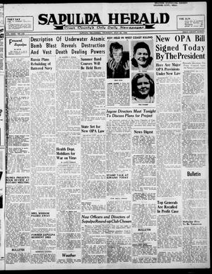 Primary view of Sapulpa Herald (Sapulpa, Okla.), Vol. 31, No. 276, Ed. 1 Thursday, July 25, 1946