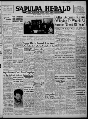 Primary view of Sapulpa Herald (Sapulpa, Okla.), Vol. 33, No. 118, Ed. 1 Tuesday, January 20, 1948