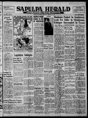 Primary view of Sapulpa Herald (Sapulpa, Okla.), Vol. 32, No. 138, Ed. 1 Thursday, February 13, 1947