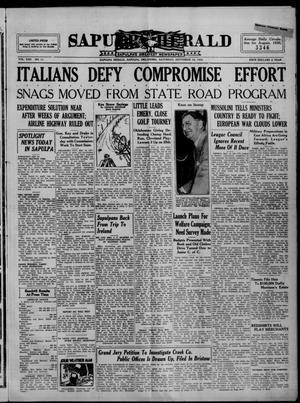 Primary view of Sapulpa Herald (Sapulpa, Okla.), Vol. 22, No. 11, Ed. 1 Saturday, September 14, 1935