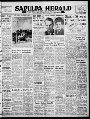 Primary view of Sapulpa Herald (Sapulpa, Okla.), Vol. 31, No. 2, Ed. 1 Tuesday, September 4, 1945