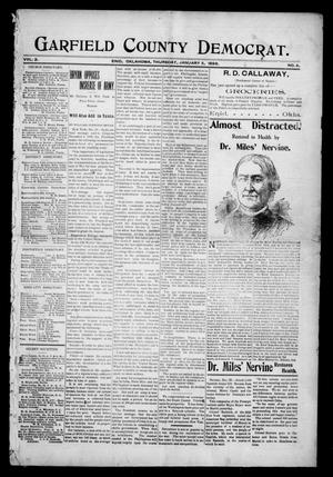 Primary view of object titled 'Garfield County Democrat. (Enid, Okla.), Vol. 2, No. 4, Ed. 1 Thursday, January 5, 1899'.