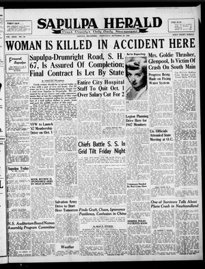 Primary view of Sapulpa Herald (Sapulpa, Okla.), Vol. 32, No. 20, Ed. 1 Wednesday, September 25, 1946