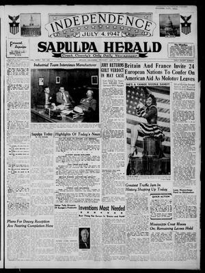 Primary view of Sapulpa Herald (Sapulpa, Okla.), Vol. 32, No. 257, Ed. 1 Thursday, July 3, 1947