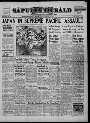 Primary view of Sapulpa Herald (Sapulpa, Okla.), Vol. 27, No. 140, Ed. 1 Saturday, February 14, 1942