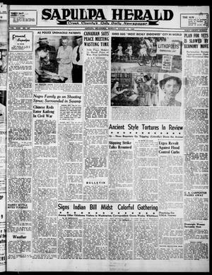Primary view of Sapulpa Herald (Sapulpa, Okla.), Vol. 31, No. 297, Ed. 1 Monday, August 19, 1946