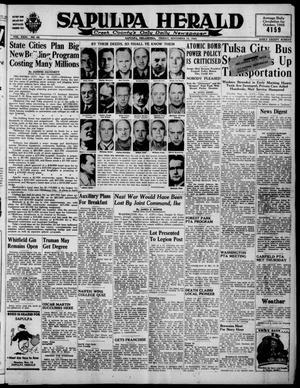 Primary view of Sapulpa Herald (Sapulpa, Okla.), Vol. 31, No. 65, Ed. 1 Friday, November 16, 1945