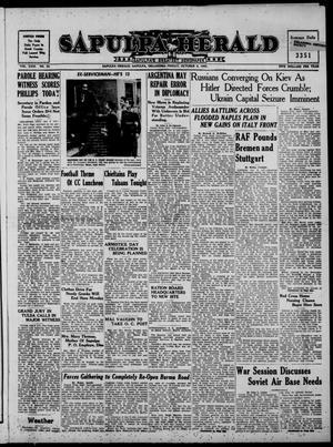 Primary view of Sapulpa Herald (Sapulpa, Okla.), Vol. 29, No. 32, Ed. 1 Friday, October 8, 1943