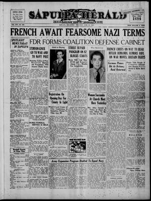 Primary view of Sapulpa Herald (Sapulpa, Okla.), Vol. 25, No. 247, Ed. 1 Thursday, June 20, 1940