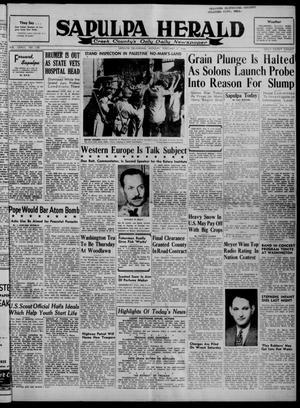 Primary view of Sapulpa Herald (Sapulpa, Okla.), Vol. 33, No. 135, Ed. 1 Monday, February 9, 1948