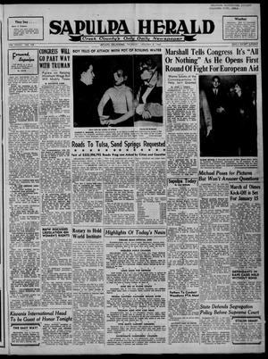 Primary view of Sapulpa Herald (Sapulpa, Okla.), Vol. 33, No. 108, Ed. 1 Thursday, January 8, 1948