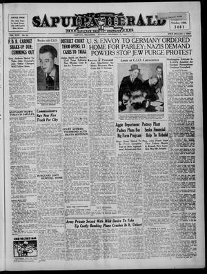 Primary view of Sapulpa Herald (Sapulpa, Okla.), Vol. 24, No. 64, Ed. 1 Tuesday, November 15, 1938