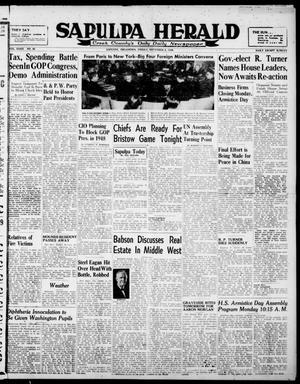 Primary view of Sapulpa Herald (Sapulpa, Okla.), Vol. 32, No. 58, Ed. 1 Friday, November 8, 1946
