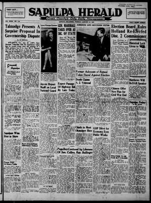 Primary view of Sapulpa Herald (Sapulpa, Okla.), Vol. 32, No. 118, Ed. 1 Tuesday, January 21, 1947