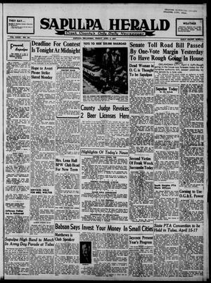 Primary view of Sapulpa Herald (Sapulpa, Okla.), Vol. 32, No. 181, Ed. 1 Friday, April 4, 1947