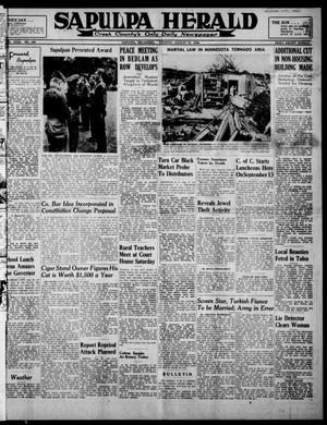 Primary view of Sapulpa Herald (Sapulpa, Okla.), Vol. 31, No. 304, Ed. 1 Tuesday, August 27, 1946