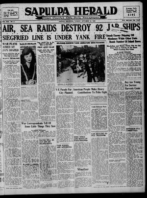 Primary view of Sapulpa Herald (Sapulpa, Okla.), Vol. 30, No. 9, Ed. 1 Tuesday, September 12, 1944