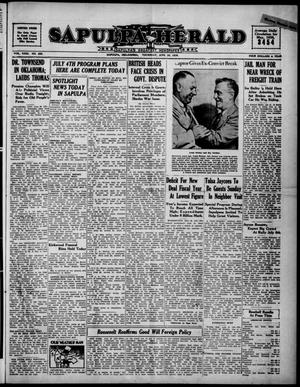 Primary view of Sapulpa Herald (Sapulpa, Okla.), Vol. 23, No. 255, Ed. 1 Thursday, June 30, 1938