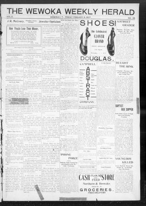 Primary view of object titled 'The Wewoka Weekly Herald (Wewoka, Indian Terr.), Vol. 2, No. 36, Ed. 1 Friday, February 8, 1907'.