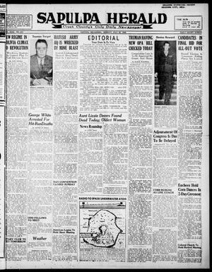 Primary view of Sapulpa Herald (Sapulpa, Okla.), Vol. 31, No. 273, Ed. 1 Monday, July 22, 1946