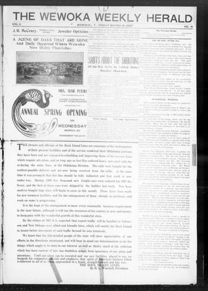 Primary view of object titled 'The Wewoka Weekly Herald (Wewoka, Indian Terr.), Vol. 2, No. 41, Ed. 1 Friday, March 8, 1907'.