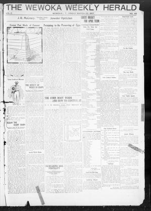 Primary view of object titled 'The Wewoka Weekly Herald (Wewoka, Indian Terr.), Vol. 2, No. 42, Ed. 1 Friday, March 22, 1907'.