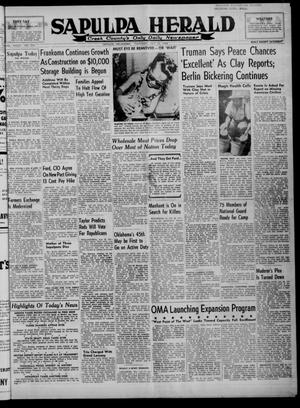 Primary view of Sapulpa Herald (Sapulpa, Okla.), Vol. 33, No. 274, Ed. 1 Thursday, July 22, 1948