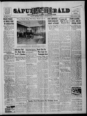 Primary view of Sapulpa Herald (Sapulpa, Okla.), Vol. 24, No. 73, Ed. 1 Saturday, November 26, 1938