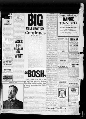 Primary view of Oklahoma City Daily Pointer (Oklahoma City, Okla.), Vol. 2, No. 144, Ed. 1 Thursday, July 4, 1907