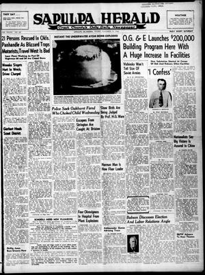 Primary view of Sapulpa Herald (Sapulpa, Okla.), Vol. 34, No. 68, Ed. 1 Friday, November 19, 1948