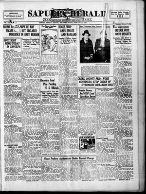 Primary view of Sapulpa Herald (Sapulpa, Okla.), Vol. 21, No. 140, Ed. 1 Friday, February 15, 1935
