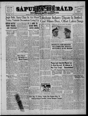 Primary view of Sapulpa Herald (Sapulpa, Okla.), Vol. 27, No. 72, Ed. 1 Monday, November 24, 1941