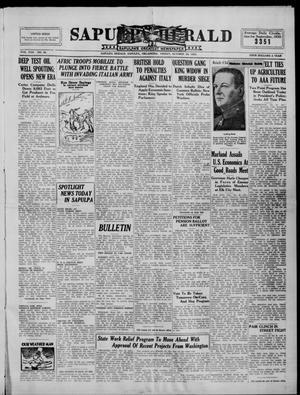 Primary view of Sapulpa Herald (Sapulpa, Okla.), Vol. 22, No. 46, Ed. 1 Friday, October 25, 1935