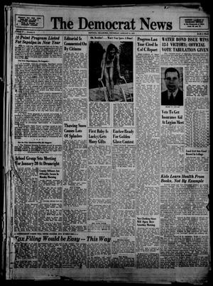 Primary view of object titled 'The Democrat News (Sapulpa, Okla.), Vol. 37, No. 8, Ed. 1 Thursday, January 9, 1947'.