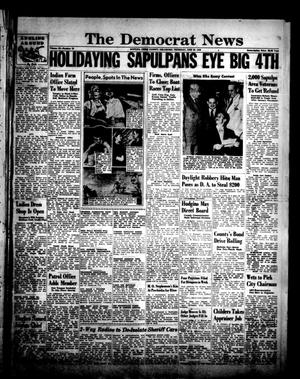 Primary view of object titled 'The Democrat News (Sapulpa, Okla.), Vol. 39, No. 34, Ed. 1 Thursday, June 30, 1949'.