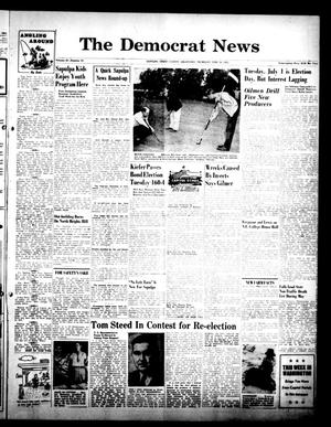 Primary view of The Democrat News (Sapulpa, Okla.), Vol. 42, No. 33, Ed. 1 Thursday, June 19, 1952