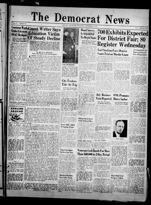 Primary view of object titled 'The Democrat News (Sapulpa, Okla.), Vol. 37, No. 42, Ed. 1 Thursday, September 4, 1947'.