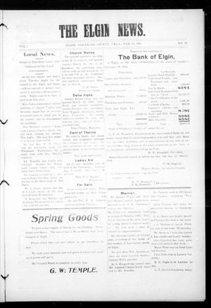 Primary view of object titled 'The Elgin News. (Elgin, Okla.), Vol. 1, No. 28, Ed. 1 Thursday, March 19, 1908'.