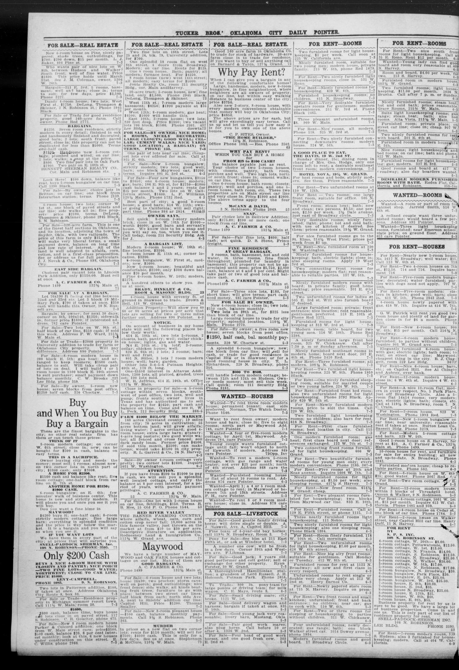 Oklahoma City Daily Pointer (Oklahoma City, Okla.), Vol. 3, No. 367, Ed. 1 Sunday, March 22, 1908                                                                                                      [Sequence #]: 4 of 4
