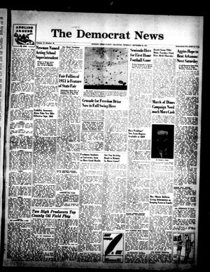 Primary view of object titled 'The Democrat News (Sapulpa, Okla.), Vol. 41, No. 46, Ed. 1 Thursday, September 20, 1951'.