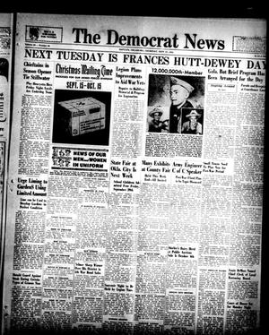 Primary view of object titled 'The Democrat News (Sapulpa, Okla.), Vol. 33, No. 46, Ed. 1 Thursday, September 21, 1944'.